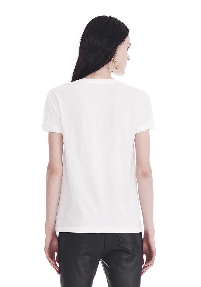T by ALEXANDER WANG SUPERFINE JERSEY V-NECK TEE 上衣 Adult 12_n_d