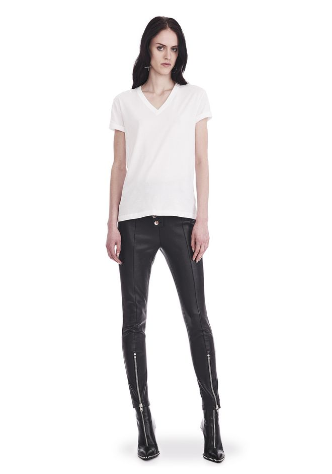 T by ALEXANDER WANG SUPERFINE JERSEY V-NECK TEE 上衣 Adult 12_n_f