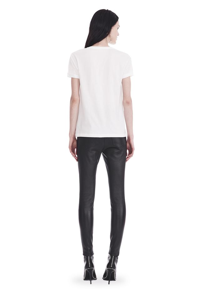T by ALEXANDER WANG SUPERFINE JERSEY V-NECK TEE 上衣 Adult 12_n_r