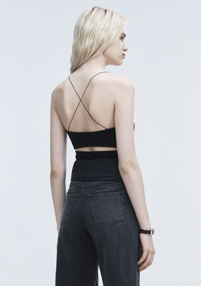 T by ALEXANDER WANG t-by-alexander-wang-classics STRAPPY CAMI TANK