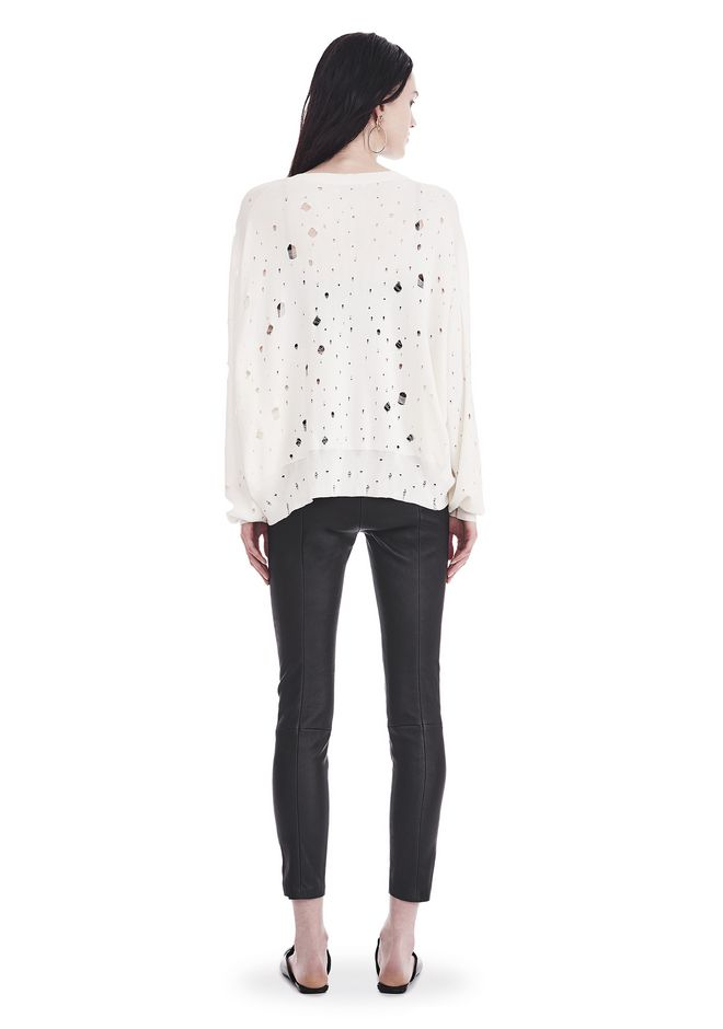 T by ALEXANDER WANG OVERSIZED KNIT CREWNECK SWEATER 上衣 Adult 12_n_r