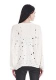 T by ALEXANDER WANG OVERSIZED KNIT CREWNECK SWEATER 上衣 Adult 8_n_d