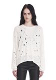 T by ALEXANDER WANG OVERSIZED KNIT CREWNECK SWEATER 上衣 Adult 8_n_e