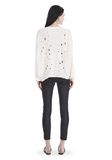 T by ALEXANDER WANG OVERSIZED KNIT CREWNECK SWEATER 上衣 Adult 8_n_r
