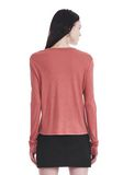 T by ALEXANDER WANG CLASSIC CROPPED LONG SLEEVE TEE TOP Adult 8_n_d