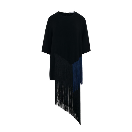 Edith Black Fringe Top