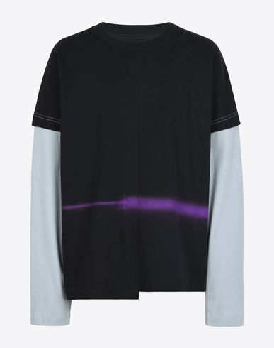 MAISON MARGIELA Long sleeve t-shirt U Spray paint fused T-shirt f