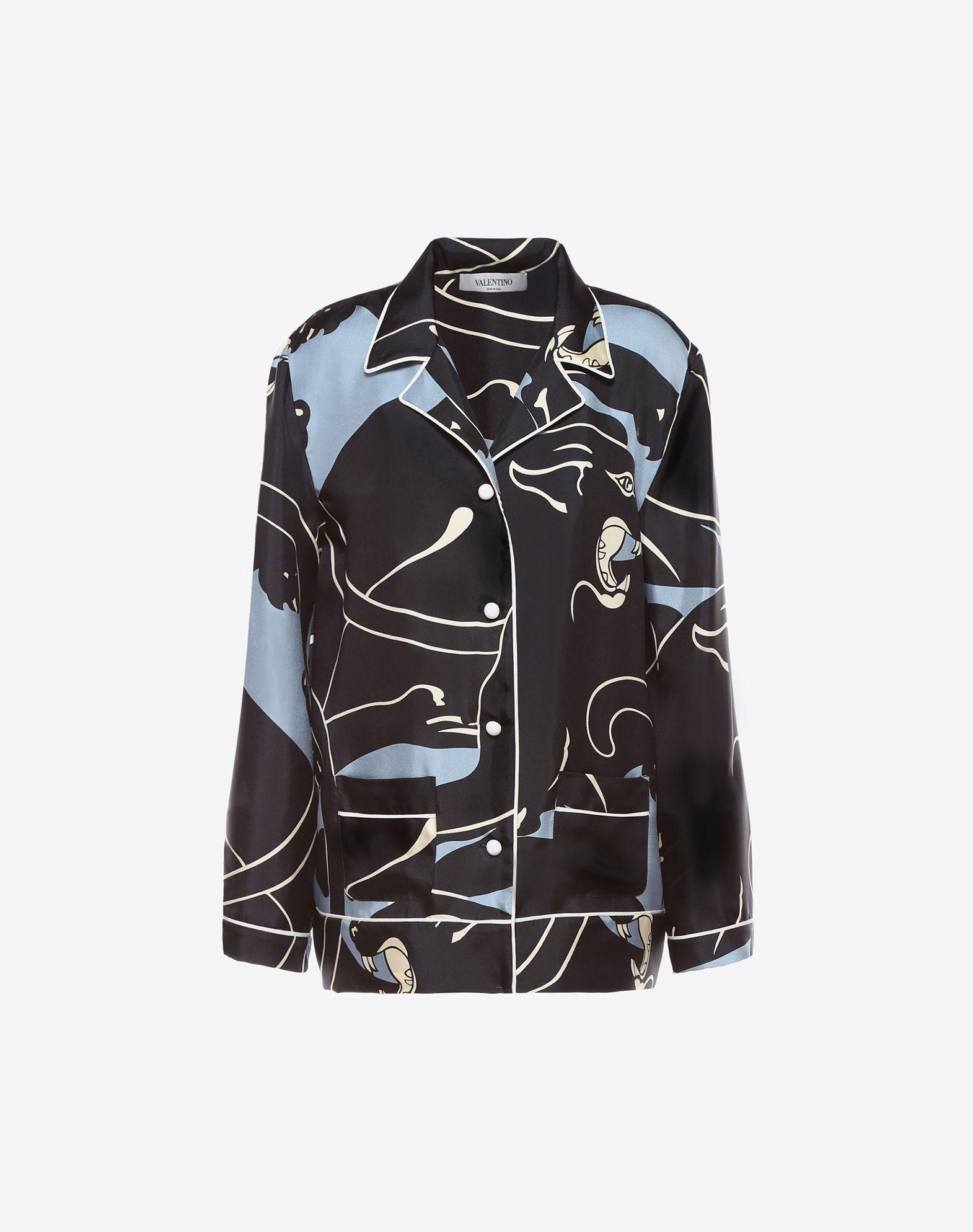 VALENTINO Button closing Satin Lapel collar Two pockets Long sleeves  12035359dc