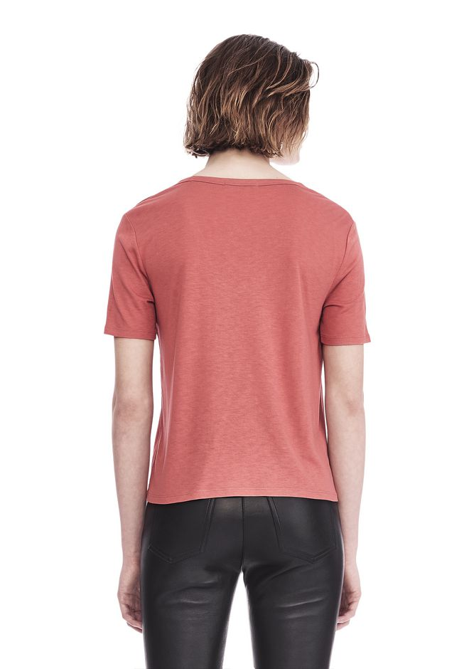 T by ALEXANDER WANG CLASSIC CROPPED TEE WITH POCKET 上衣 Adult 12_n_d