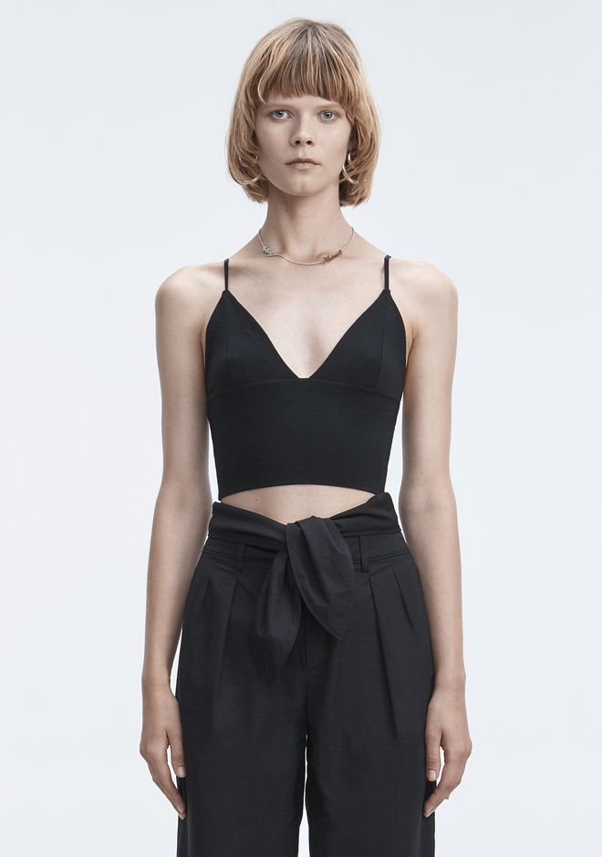 T by ALEXANDER WANG t-by-alexander-wang-classics EXCLUSIVE TRIANGLE BRALETTE TOP