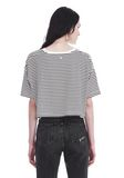 T by ALEXANDER WANG STRIPED SHORT SLEEVE DROP SHOULDER TEE 上衣 Adult 8_n_d