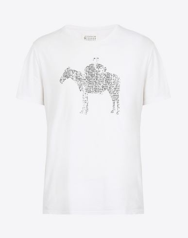 MAISON MARGIELA Short sleeve t-shirt U T-shirt with horse print f