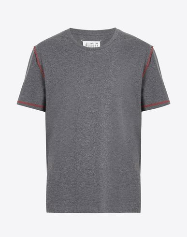 MAISON MARGIELA Short sleeve t-shirt U Cotton T-shirt with contrasting seams f