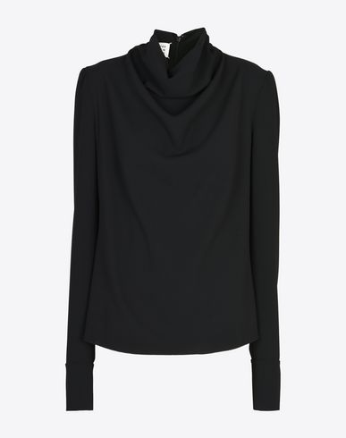 MAISON MARGIELA 1 Top D Draped high-neck top f
