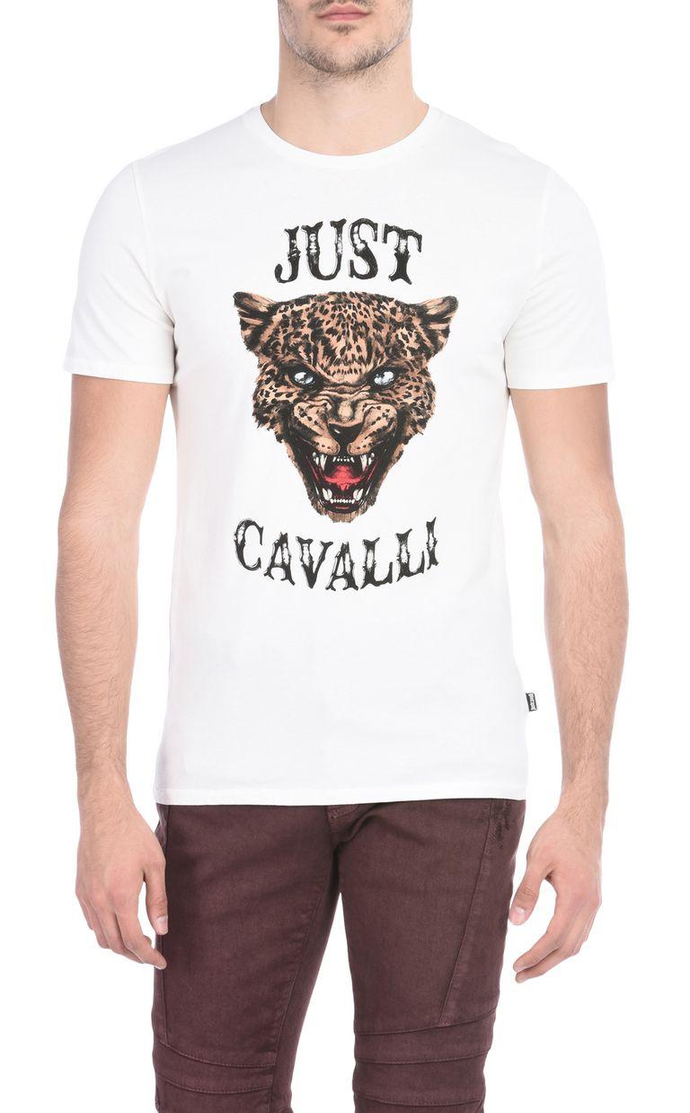 JUST CAVALLI Short-sleeved T-shirt with print design Short sleeve t-shirt Man f