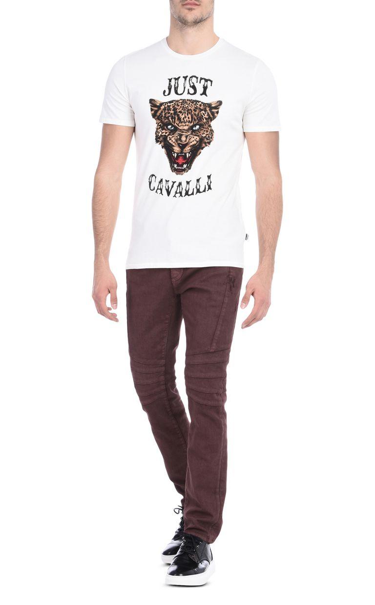 JUST CAVALLI Short-sleeved T-shirt with print design Short sleeve t-shirt Man r