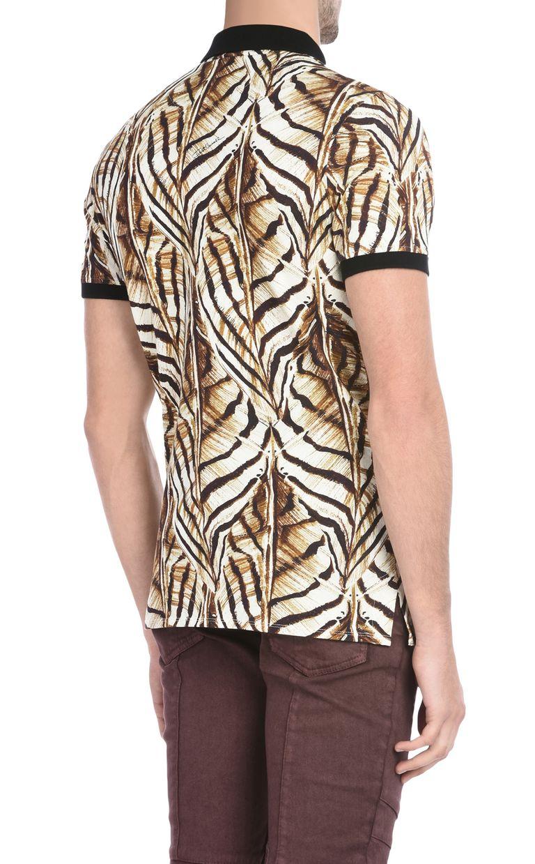 JUST CAVALLI Short-sleeved print-design polo shirt Polo shirt U d