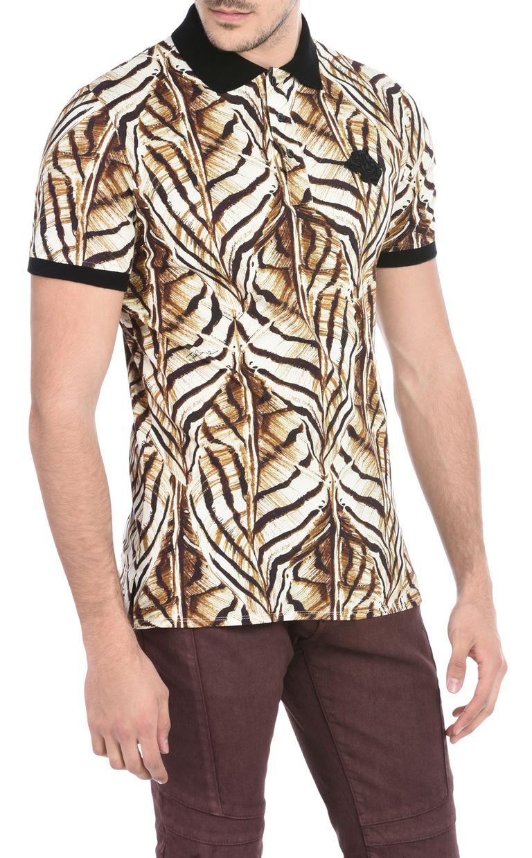 JUST CAVALLI Short-sleeved print-design polo shirt Polo shirt U f