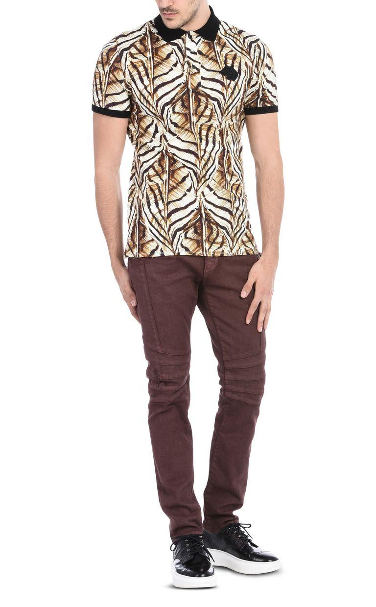 JUST CAVALLI Short-sleeved print-design polo shirt Polo shirt Man r
