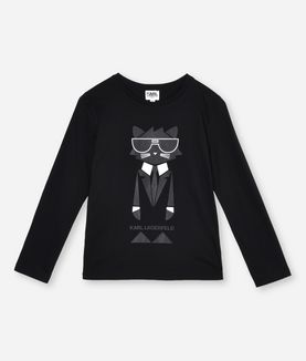 KARL LAGERFELD CHOUPETTE COCKTAIL T-SHIRT