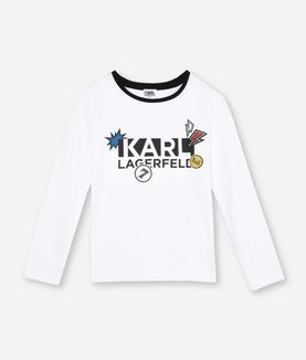 KARL LAGERFELD KL PATCH LOGO T-SHIRT