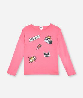 KARL LAGERFELD POP PATCH T-SHIRT