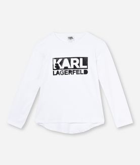 KARL LAGERFELD T-SHIRT MIT KARL LAGERFELD-LOGO