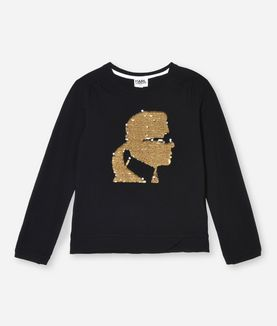 KARL LAGERFELD KARL GOLD SEQUIN T-SHIRT