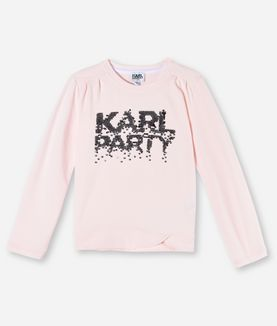 KARL LAGERFELD T-SHIRT KARL PARTY MIT PAILLETTEN