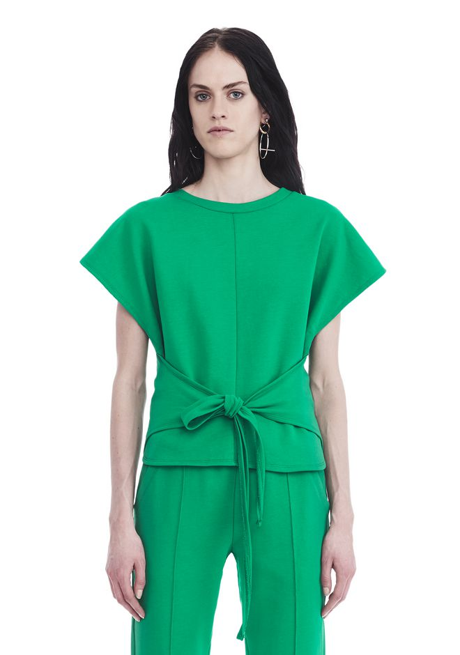 T by ALEXANDER WANG TOPS Women SHORT SLEEVE WRAP FRONT TOP