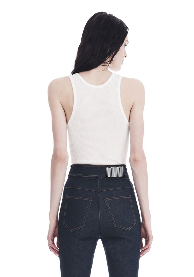 T by ALEXANDER WANG SLEEVELESS RIBBED BODYSUIT 上衣 Adult 12_n_a
