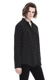 T by ALEXANDER WANG PRINTED SILK LONG SLEEVE COLLARED SHIRT 上衣 Adult 8_n_a