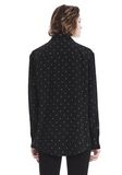 T by ALEXANDER WANG PRINTED SILK LONG SLEEVE COLLARED SHIRT 上衣 Adult 8_n_d