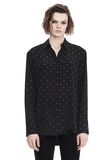 T by ALEXANDER WANG PRINTED SILK LONG SLEEVE COLLARED SHIRT 上衣 Adult 8_n_e