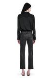 T by ALEXANDER WANG SILK CHARMEUSE LONG SLEEVE WRAP SHIRT BODYSUIT  TOP Adult 8_n_r