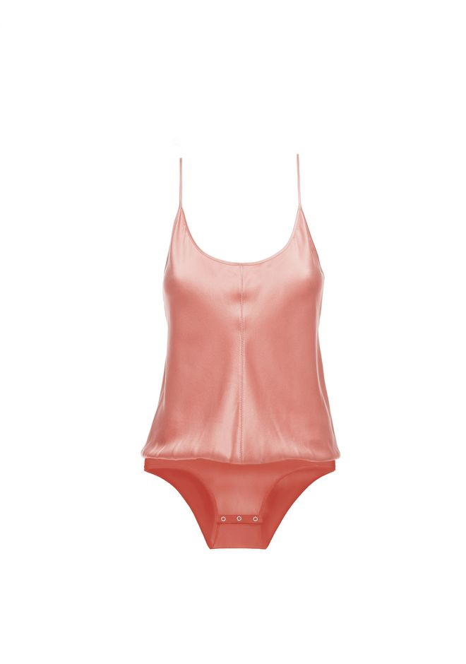 T by ALEXANDER WANG SILK CHARMEUSE CAMI BODYSUIT TOP Adult 12_n_d