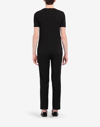 TOPS Cotton jersey tee-shirt Black