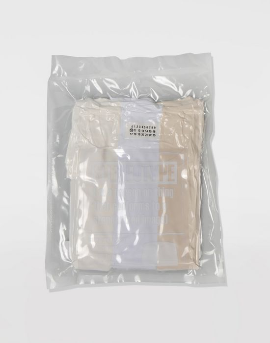 MAISON MARGIELA Dyed cotton tripack tee-shirts Short sleeve t-shirt [*** pickupInStoreShippingNotGuaranteed_info ***] r