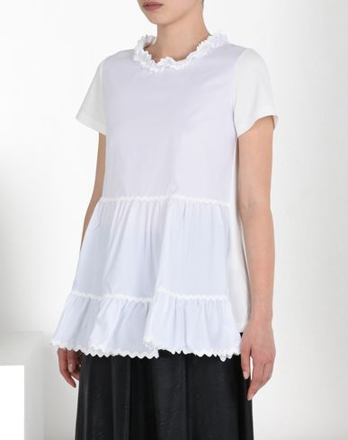 MM6 MAISON MARGIELA Short sleeve t-shirt D Ruffled cotton T-shirt f