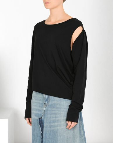 MM6 MAISON MARGIELA Top D Asymmetric long-sleeve top f