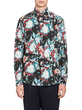 Marni Shirt in cotton with Magma print Man