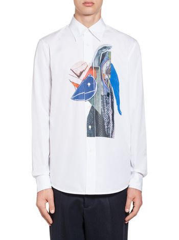 Marni Cotton shirt with lightning bolt Man