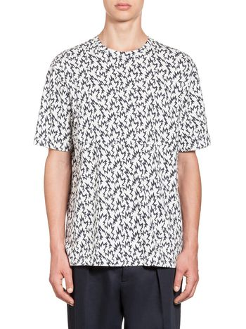 Marni Jersey T-shirt with lightning bolt print Man