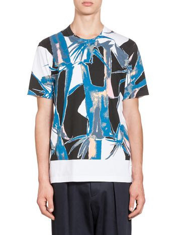 Marni Jersey T-shirt with Bamboo print Man