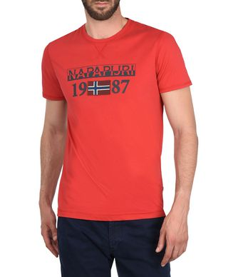 NAPAPIJRI SOLIN SHORT SLEEVES MAN SHORT SLEEVE T-SHIRT,RED