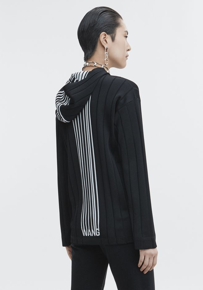 ALEXANDER WANG new-arrivals-ready-to-wear-woman EXCLUSIVE HOODIE PULLOVER WITH BARCODE LOGO
