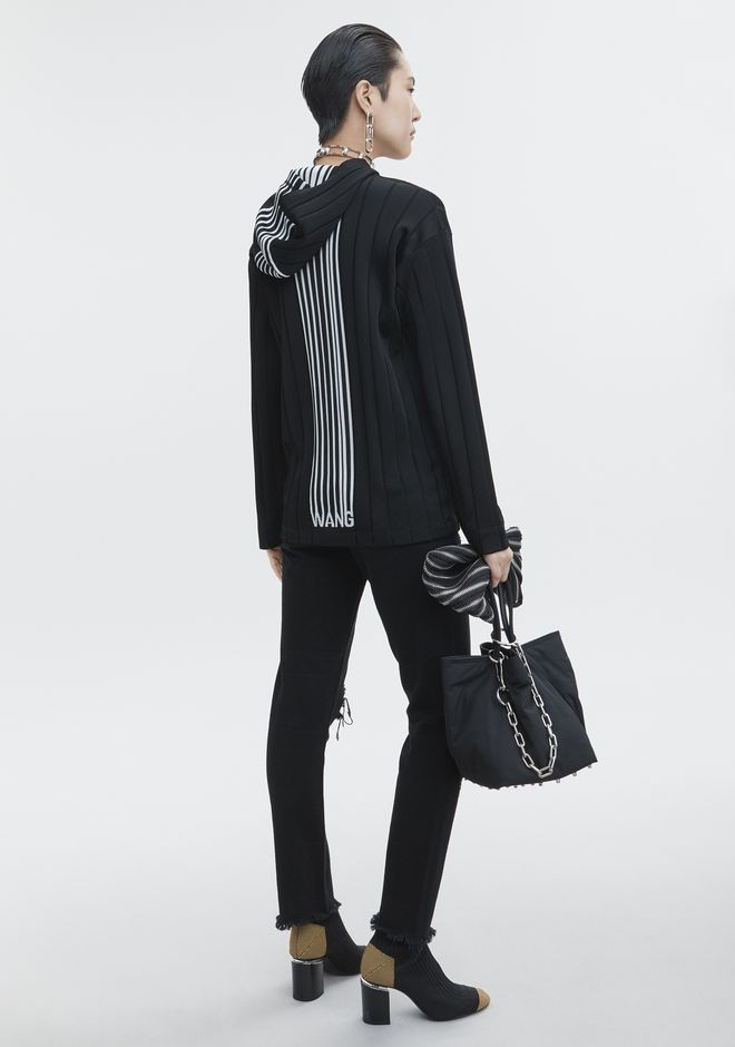 Alexander Wang Downs EXCLUSIVE HOODIE PULLOVER WITH BARCODE LOGO
