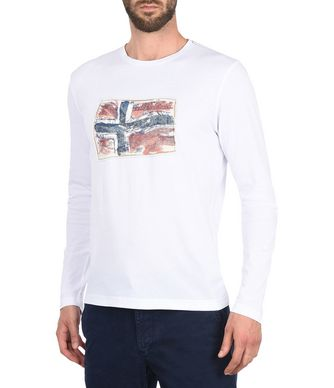NAPAPIJRI SACHS LONG SLEEVES MAN LONG SLEEVE T-SHIRT,WHITE