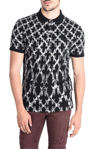 JUST CAVALLI Polo shirt U Printed polo shirt f
