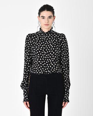 SLOAN floral print silk shirt
